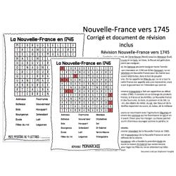 Mots cachés Nouvelle-France en 1745-Univers social