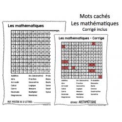 Mots cachés Les mathématiques