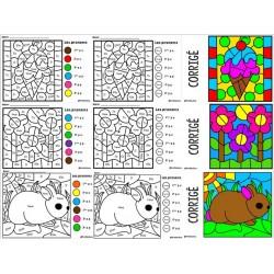 Coloriage magique PRONOM (color by code)