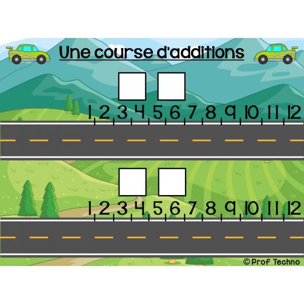 Courses d'additions et de multiplications