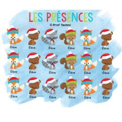 Les présences - Animaux de Noël - TNI