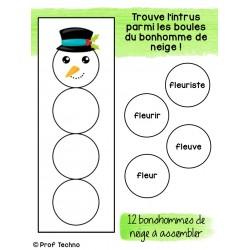 Mots de même famille - Bonhomme de neige