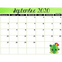 Calendrier annuel août 2020 - juillet 2021
