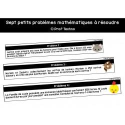 Problèmes mathématiques à résoudre - 2e cycle