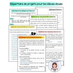 Projets - Les élèves à haut potentiel (douance)