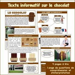 Texte informatif sur le chocolat