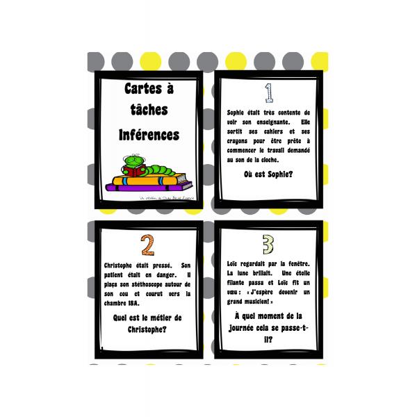 Cartes à tâches sur les inférences