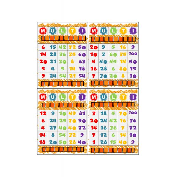 Cartes de Bingo (Multi) de multiplications