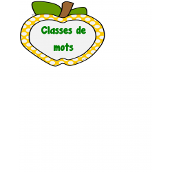 Grandes affiches classes de mots