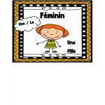 Affiches féminin / masculin / singulier / pluriel