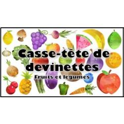 Casse-tête de devinettes (fruits et légumes)