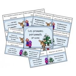 Les pronoms - Cartes à tâches