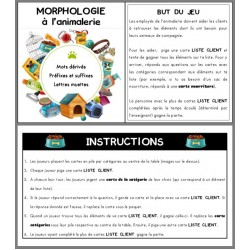 Morphologie à l'animalerie