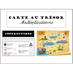 Multiplications - Carte au trésor