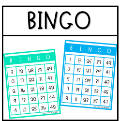 Bingo avec chiffres de 0 à 50
