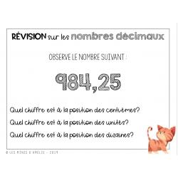 Révision sur les nombres décimaux