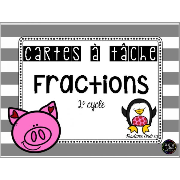 Cartes à tâche Fractions