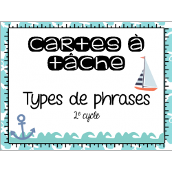 Cartes à tâche - Types de phrases