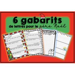 Gabarits de lettres pour le père Noël