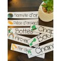 Mots étiquettes St-Patrick en 5 LANGUES!