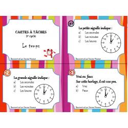 cartes à tâches ( Le temps )