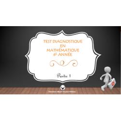 Test diagnostique en mathématique
