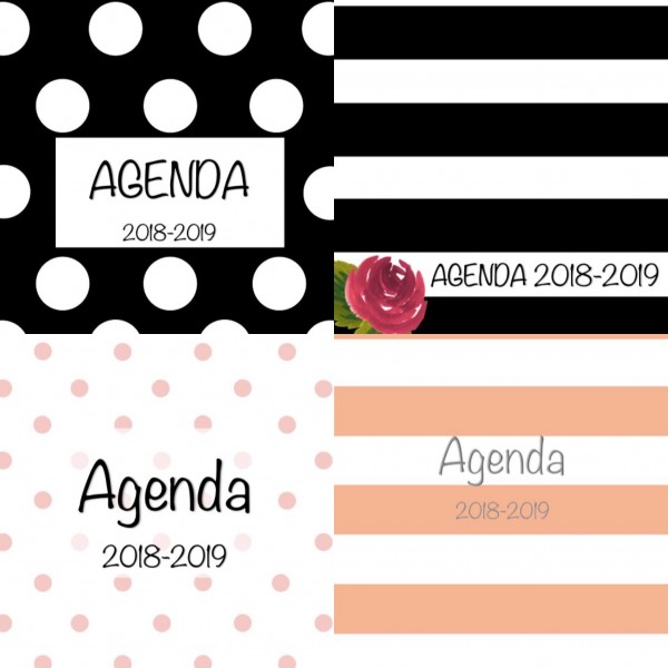 Agenda modèle étudiant