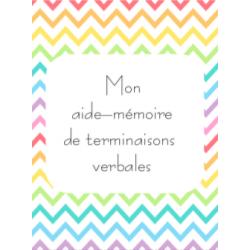 Mon aide-mémoire de terminaisons verbales