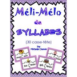 Activité de Syllabes (30 casse-tête)