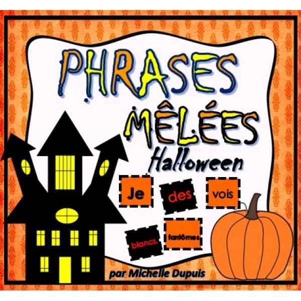 Phrases mêlées Halloween