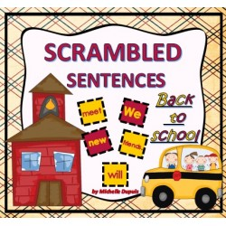 Scrambled Sentences Back to School
