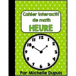 Cahier interactif de math HEURE