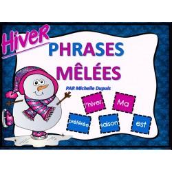 Phrases mêlées - Hiver