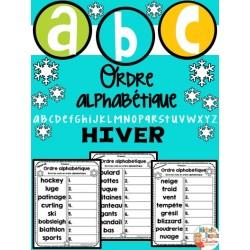 Ordre alphabétique - thème HIVER