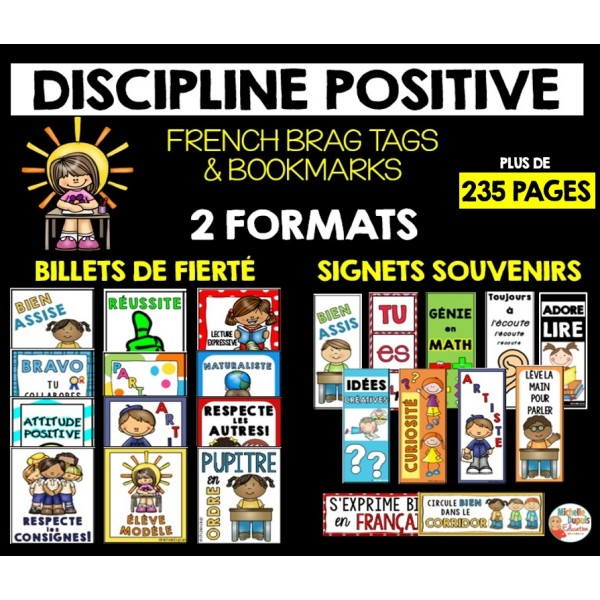 Billets de fierté & Signets - French Brag Tags