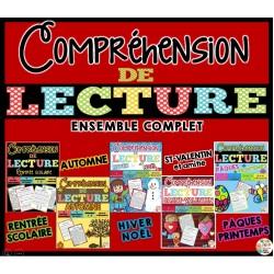 COMPRÉHENSION DE LECTURE - ENSEMBLE COMPLET