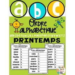 Ordre alphabétique - Thème: PRINTEMPS