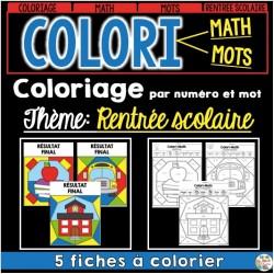 COLORI - MATH ET MOTS - Rentrée scolaire