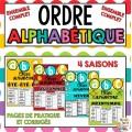 ORDRE ALPHABÉTIQUE - SAISONS - ENSEMBLE COMPLET