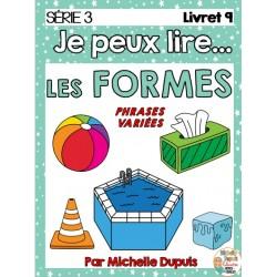 Je peux lire - LES FORMES - Série 3