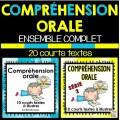 COMPRÉHENSION ORALE - ENSEMBLE COMPLET