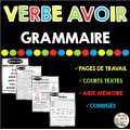 GRAMMAIRE - VERBE AVOIR