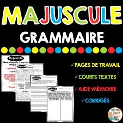 GRAMMAIRE - MAJUSCULE