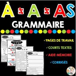 GRAMMAIRE - HOMOPHONES A-À-AS