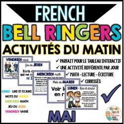 Activités du matin - MAI - French Bell Ringers