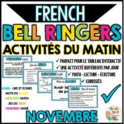 Activités du matin -Novembre- French bell ringers