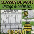 Classes de mots - image à colorier - GRATUIT