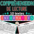 Textes informatifs - Compréhension de lecture