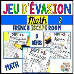 Jeu d'évasion - Math 2 - French Escape Room