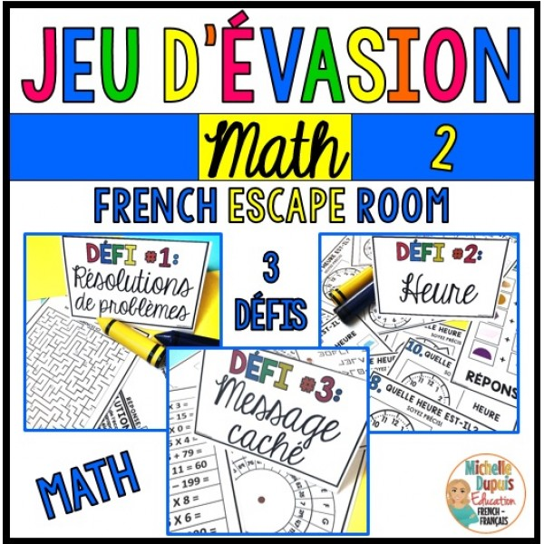 Jeu d'évasion - Math 2 - French Escape Room
